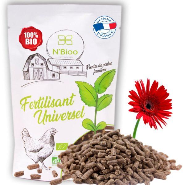 Engrais granulés N'Bioo naturel et Bio