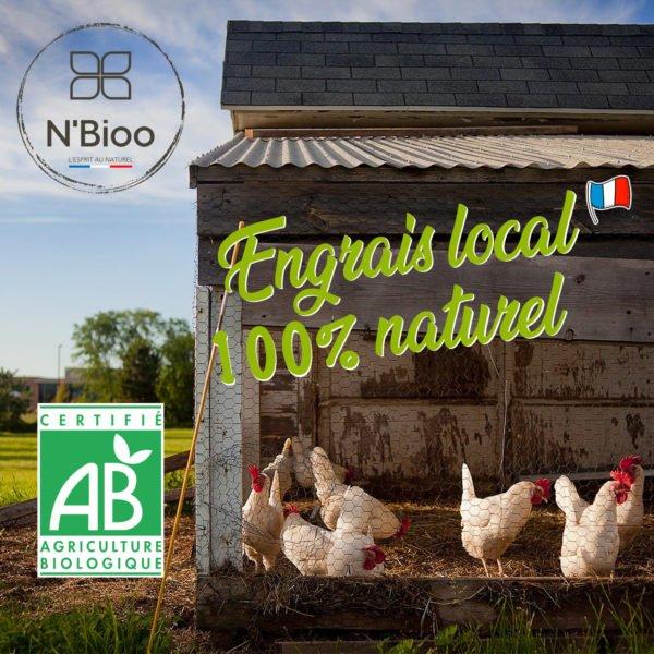 N'Bioo fertilisant en granulés fiente de poules